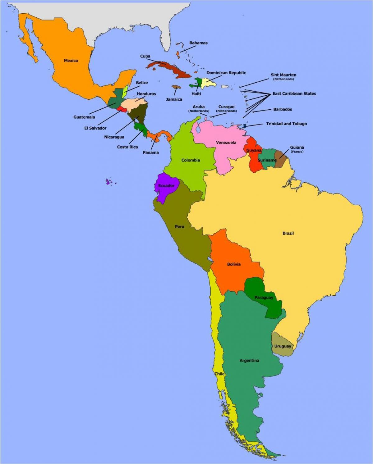 Belize Ameryka Poludniowa Mapa Belize Do Ameryki Poludniowej